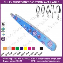 PAPER PATTERN TWEEZER,SALON PRODUCTS TWEEZER,SURGICAL BEAUTY MINI EYEBROW TWEEZERS