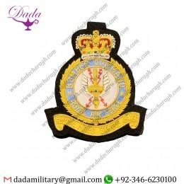 Squadron Emblem Royal Air Force Bomber Squadron Badge Hand Embroidered Bullion Blazer Badge
