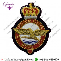 Uniform And Ceremonial Accoutrements Royal Singapore Flying Club Blazer Badge