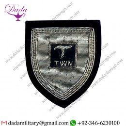 Uniform And Ceremonial Accoutrements Silver Bullion Wire Badge With Hand Embroidery