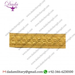 13 mm Braid Gold Mylar Bns Rank Marking Lace Trim