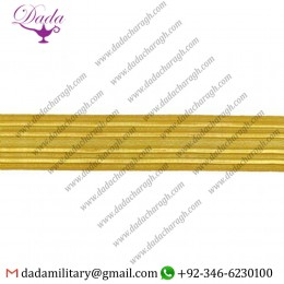 32mm Braid Naval Gold Metal Wire Lace