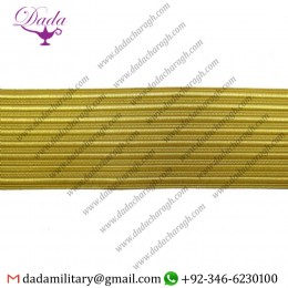 50 mm Braid Gold Wire Lace Trim