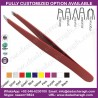 BEAUTY COLOR PROFESSIONAL HIGH QUALITY STAINLESS STEEL EYEBROW TWEEZERS,SLANT TIP