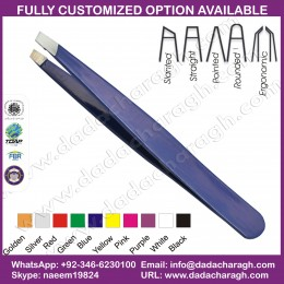 PURPLE PRINT TWEEZER ,FAVORITES COMPARE EYEBROW TWEEZERS STAINLESS STEEL TWEEZER