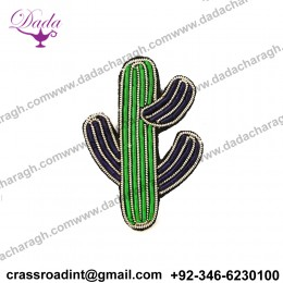 China Bullion Wire Hand Embroidery  brooch