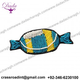 China Bullion Wire Hand Embroidery Candy brooch