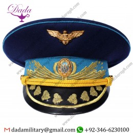 Air Force Ukraine Generals Blue Visor Cap
