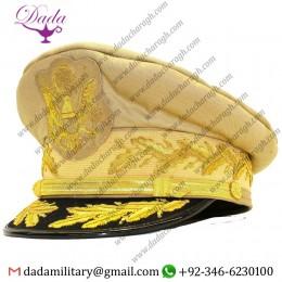 Embroidery Cap, Us General Douglas Macarthur's Uniform Khaki Hat Reproduction Caps
