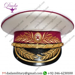 Soviet Russian MVD Generals Ministry Of Military Justice Parade White Hat