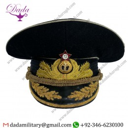 Hand Embroidery Russian Soviet Admiral Of The Fleets General Admiral Officer Visor Hat Cap
