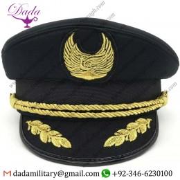 Bullion Embroidery Cap China Airlines Pilot Cap