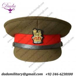 British Army General Staff WW2 Officers Peak Visor Cap Colonel And Brigadier Hat