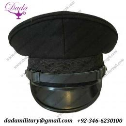 Enlisted Visor Hat Cap, WW2 German Labor Front (DAF) Officers Cap