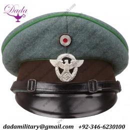 German Army Officer's Peaked Cap, Schutzpolizei Nco's Visor Cap