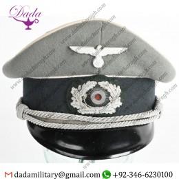 German Cap, WWii Nazi German Infantry Officers Visor Hat WW2