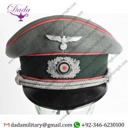 German Headwear, WWii Nazi German Panzer Officers Visor Hat WW2