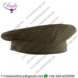 Green Wool Cap Marine Corps Enlisted Green Poly, wool Gabardine Cover