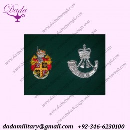 Custom Hand Embroidered wire Bullion Crest