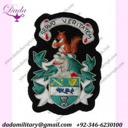Blazer Badge Embroidery coat of arms family crest
