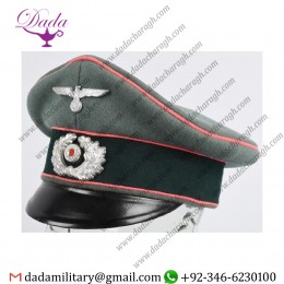 German Militaria, WWii Nazi German Officer Panzer Visor Hat