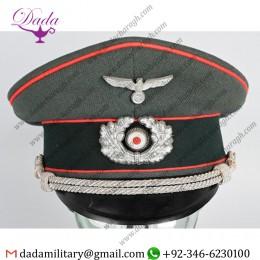 German Militaria, WWii Nazi German Artillery Officer's Visor Hat