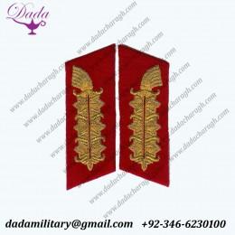 Bullion Wire Custom Made Field Marshal Collar Tabs