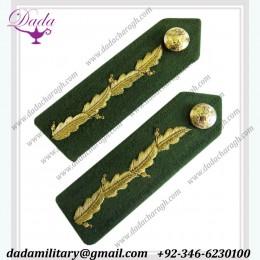 Bullion Wire Custom Made Generals No 1 Dress Oak leak Gorget Green