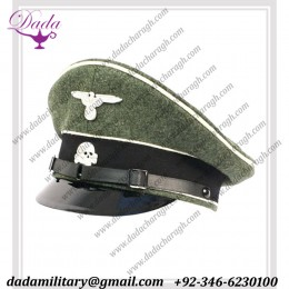 Uniform German Cap,Waffen SS Infantry NCOs Visor Cap.