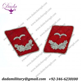 Flak Leutnant Luftwaffe Collar Tabs