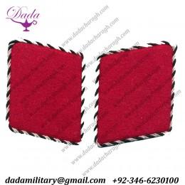 Early Sa Red Collar Tabs