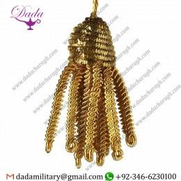 3cm (1,2 Inch) Bullion Tassel Gold Metallic Thread And Viscose For Liturgical Vestments