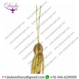 4cm (1,6 Inch)bullion Tassel Gold Metallic Thread And Viscose For Liturgical Vestments