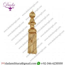 6 Inch Borlas Bullion Fringe Tassel Gold Metallic Thread