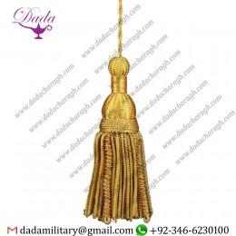 6 Inches Length French Gold Metallic Bullion Tassel Trim Passementerie Vestment Church