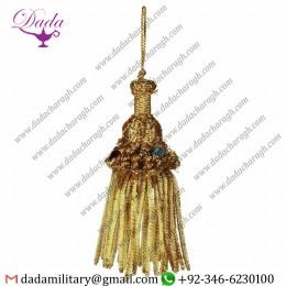 9cm(3,5 inch) Bullion Tassel Gold Metallic thread and Viscose for liturgical Vestments