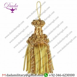 10cm (3,9 Inch) Bullion Tassel Gold Special Inox Metallic Thread And Viscose For Liturgical Vestments