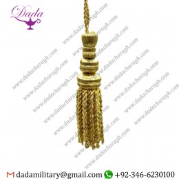 11.5cm Gold Glacé Tassel