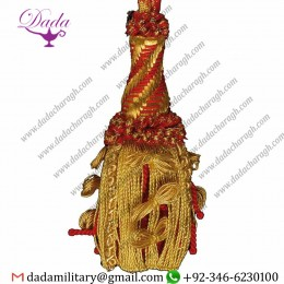 Gold And Color Metallic Thread Red Cardinal Red For Pectoral Cross Gold Cord Tassel De Luxe