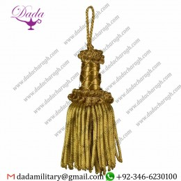 12cm (4,7 Inches) Bullion Tassel Gold Metallic Thread And Viscose For Liturgical Vestments