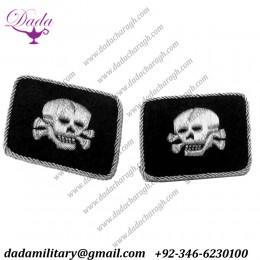 Ss Totenkopf Officers Double Skulls, Horizontal