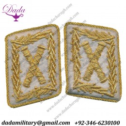 German Hermann Gring Field Marshall Collar Tabs Set Hand Embroidered