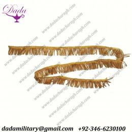 2 cm gold metallic bullion fringe, metallic bullion fringes, metal wire fringe