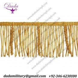 hot sales Wholesale Decorative Gold Bullion Tassels Fringes