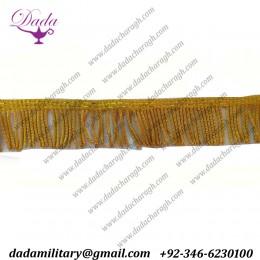 4 cm Gold bullion wire fringe ceremonial vestment french military uniform church banner flag supplier manufacturer trim tassel