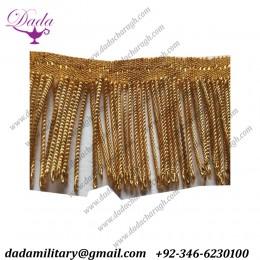4 cm Gold Metallic Bullion Fringe Coiled Strands