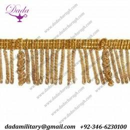 3 cm (1,2 inch)Bullion Fringe Trim Gold  Metallic thread Viscose Passementerie for liturgical Vestments