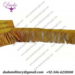 3 cm Gold bullion wire fringe ceremonial vestment french military uniform church banner flag supplier manufacturer trim tassel