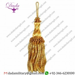 16cm (6,3 Inch) De Luxe Tassel With Bullion Hole Metallic Thread And Viscose For Liturgical Vestments