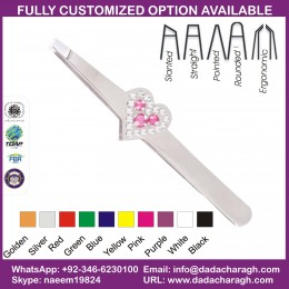 DIAMOND HEART FINAL SLANTED TWEEZER